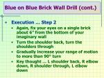 blue on blue brick wall drill cont3