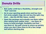 donuts drills