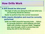 how drills work