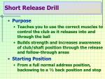 short release drill