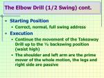 the elbow drill 1 2 swing cont