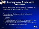 accounting of disclosures exceptions