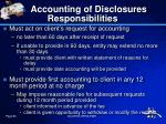 accounting of disclosures responsibilities