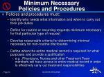 minimum necessary policies and procedures