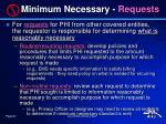 minimum necessary requests