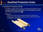 qualified protective order
