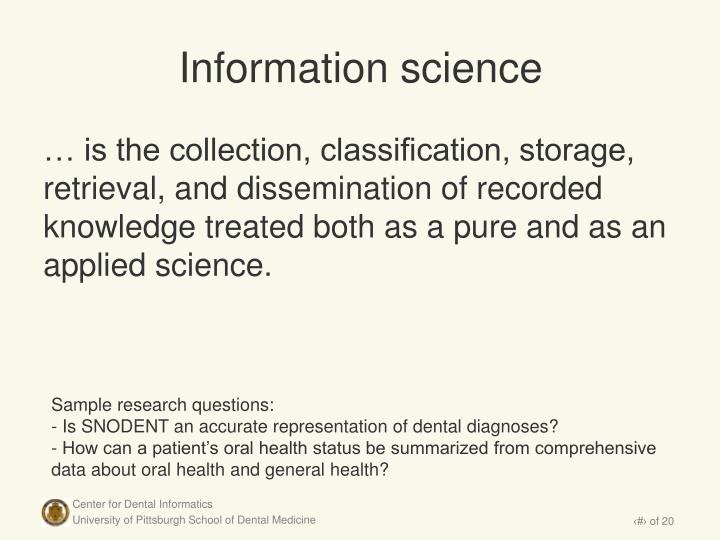 Information science