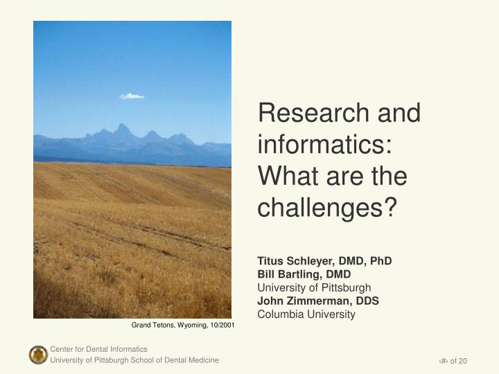 Research and informatics: