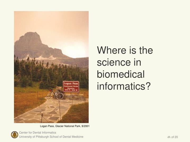 Where is the science in biomedical informatics?