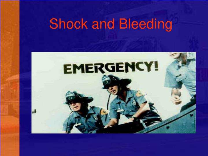 shock and bleeding n.