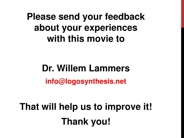 Please send your feedback