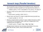 foreach loop parallel iteration