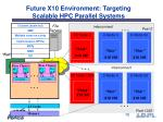 future x10 environment targeting scalable hpc parallel systems1