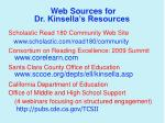 web sources for dr kinsella s resources