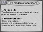 two modes of operation