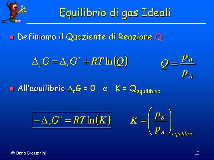 Equilibrio di gas Ideali