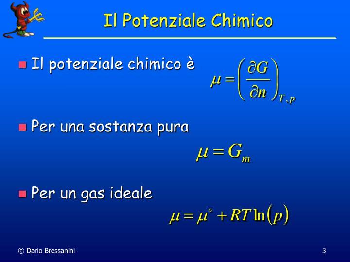 Il potenziale chimico