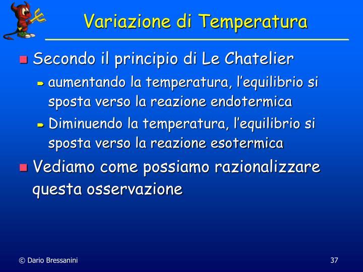 Variazione di Temperatura