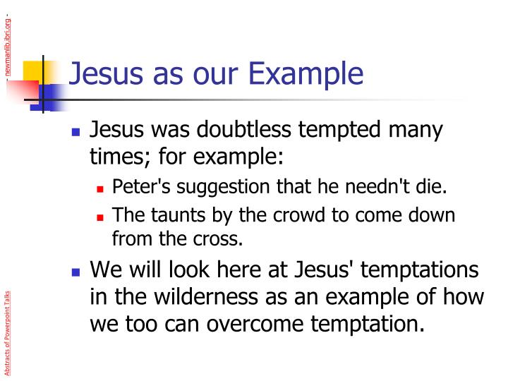 Jesus as our Example