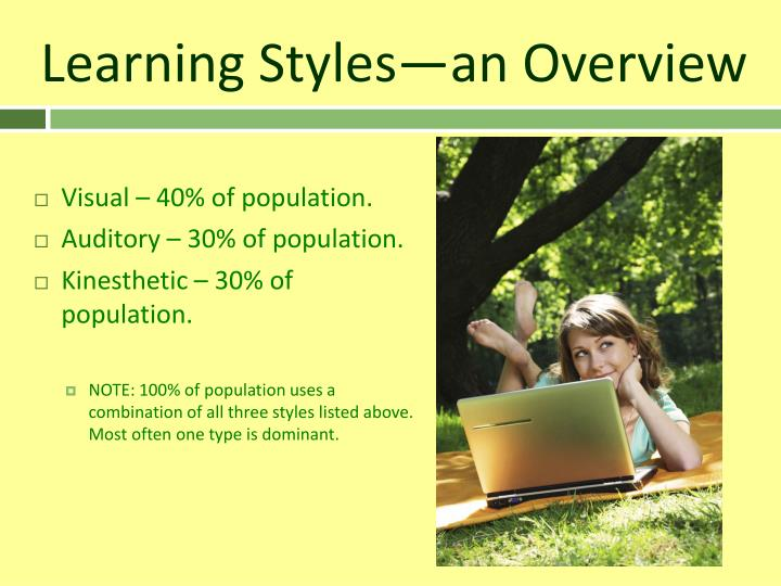 Learning styles an overview