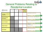 general problems relating to residential location