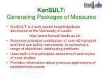 konsult generating packages of measures
