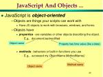 javascript and objects