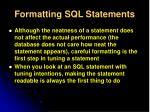 formatting sql statements1
