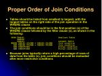 proper order of join conditions