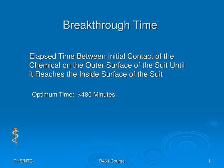 Breakthrough time