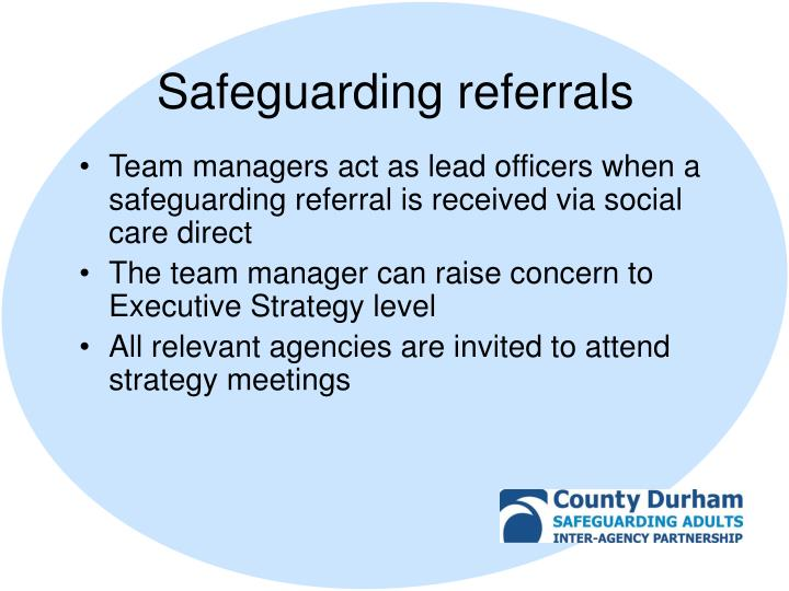Safeguarding referrals