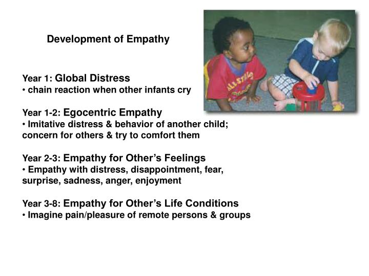 Development of empathy