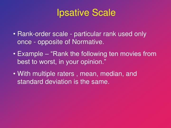 Ipsative Scale