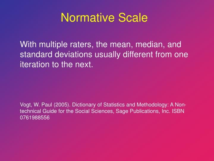 Normative Scale