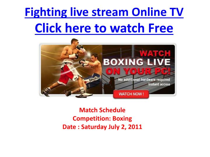 Fighting live stream online tv click here to watch free