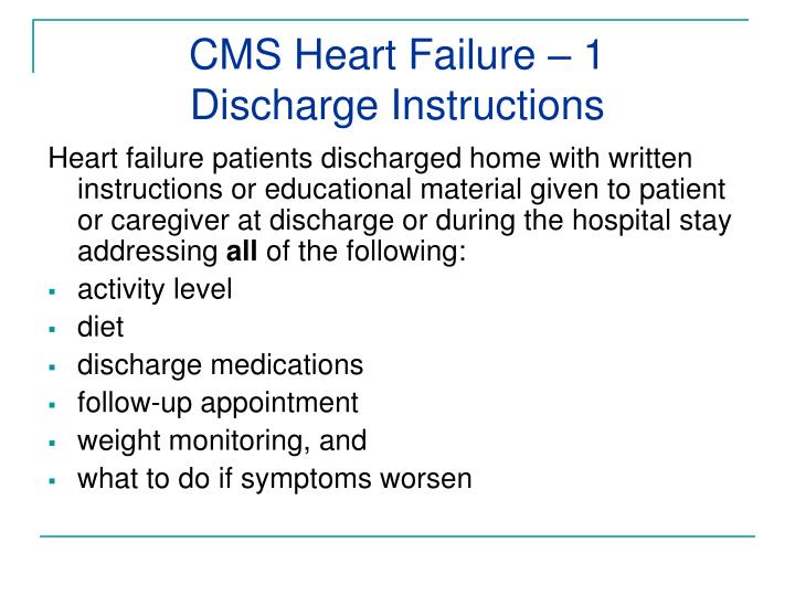 CMS Heart Failure – 1