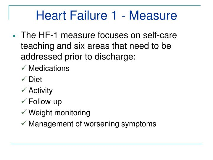 Heart Failure 1 - Measure