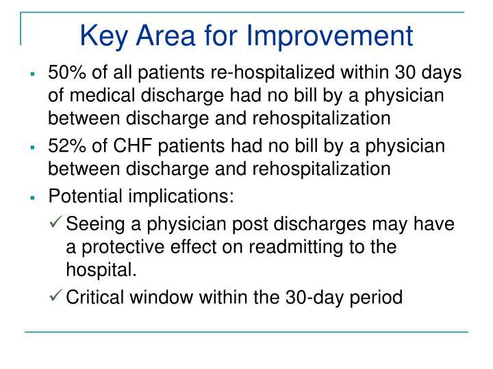 Key Area for Improvement
