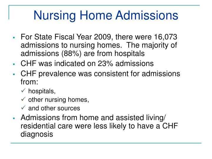Nursing Home Admissions