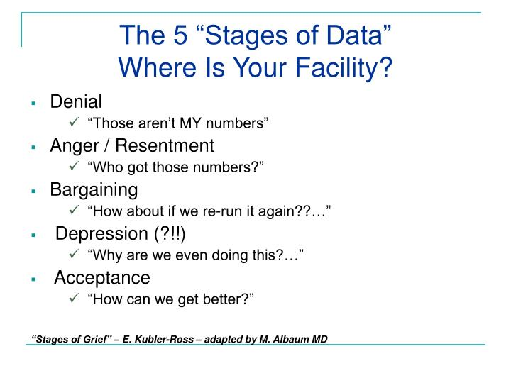"""The 5 """"Stages of Data"""""""