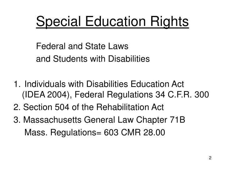 Special education rights