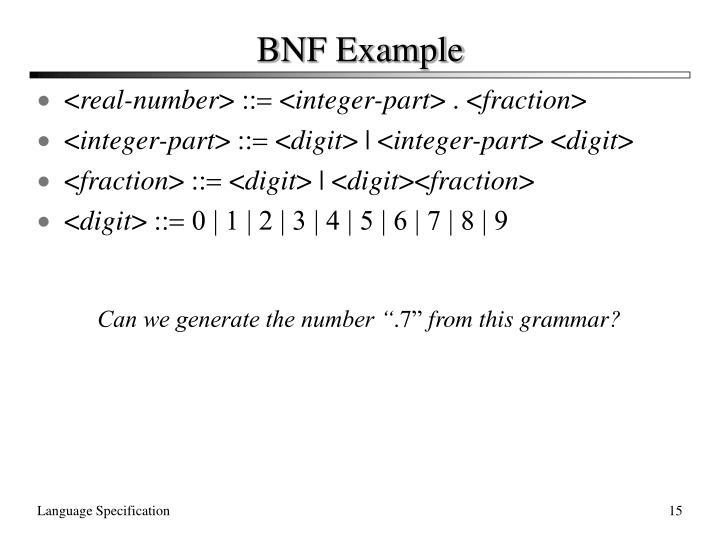 BNF Example