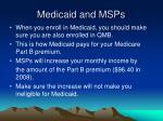 medicaid and msps