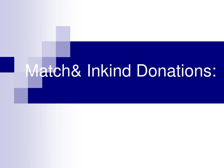 match inkind donations