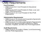 omb requirements