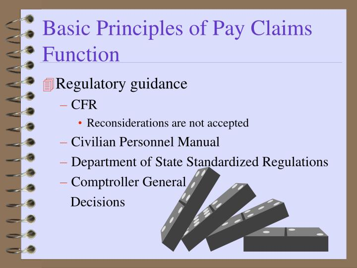 Basic Principles of Pay Claims Function