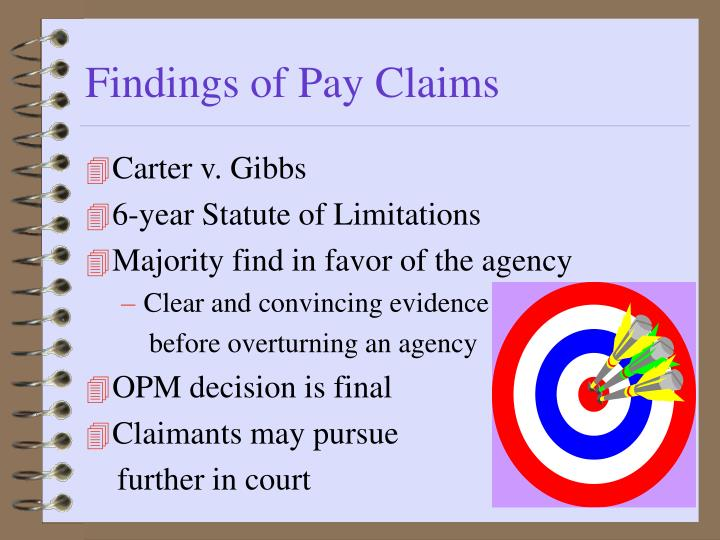 Findings of Pay Claims