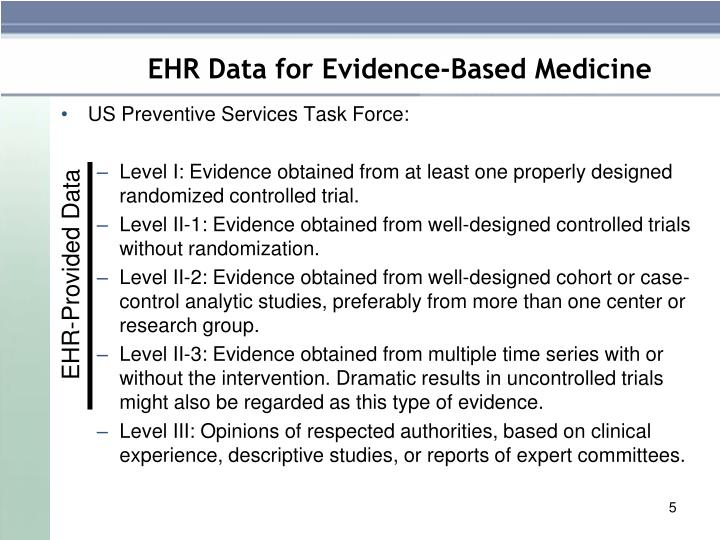 EHR-Provided Data