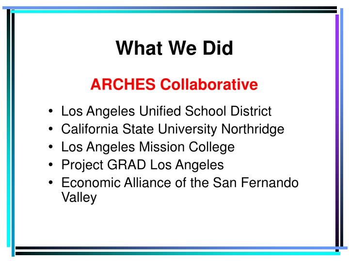 ARCHES Collaborative