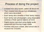 process of doing the project